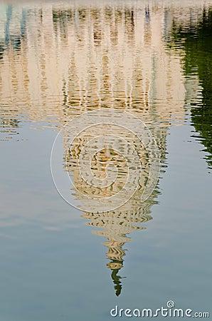 Reflection of US Capitol building, Washington DC