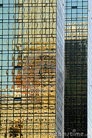 Reflections in buildings in NY