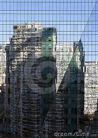 Reflections in bulding