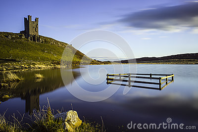 Reflections and castle ruins