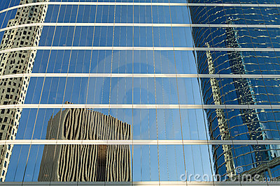 Reflections of Downtown Office Buildings