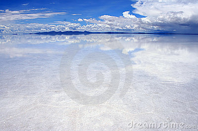 Reflections on the saltflats