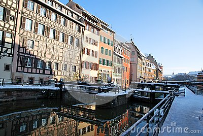 Reflections of Strasbourg during winter