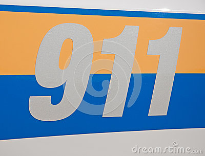 Reflective 911 -decal