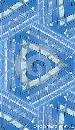 Reflective Building Seamless Pattern
