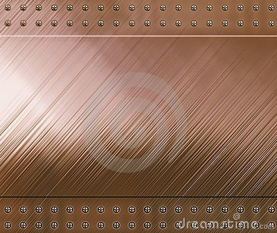 Reflective copper background