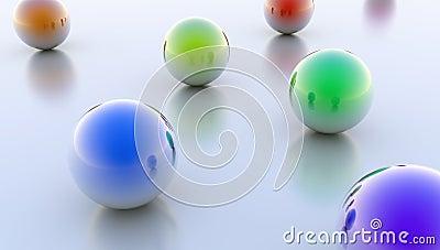 Reflective Spheres