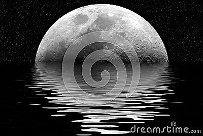 Reflexão da lua