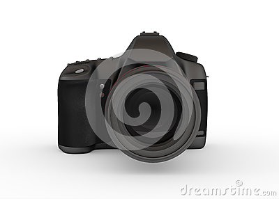 Reflex Digital Camera, Front View