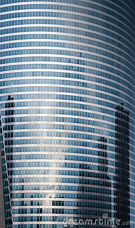 Free Reflexion In Windows Of Rounded Glass Tower Stock Images - 19644564