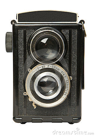 Reflexkamera 2 des alten Doppelobjektivs
