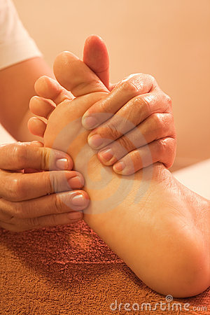 Reflexology foot massage, spa treatment,Thailand