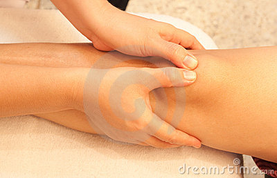 Reflexology knee massage, spa knee treatment