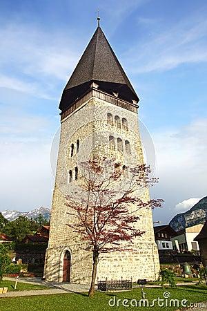Free Reformed Church (Reformierte Kirche) St. Michael In Meiringen. Switzerland Royalty Free Stock Images - 57498019