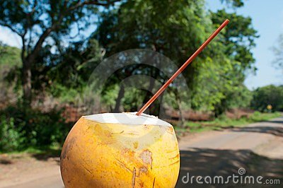 Refresh drink in hot tropical climate
