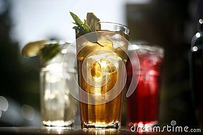 Refreshing drink glasses