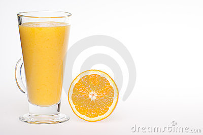 Refreshing fresh home made orange juice drink