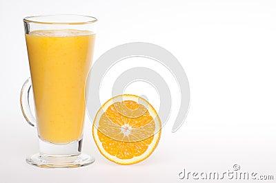 Refreshing fresh home made orange juice drink