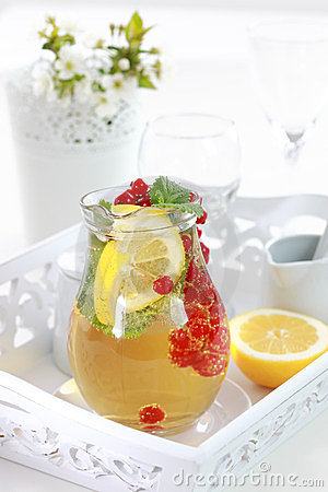 Refreshing ice tea