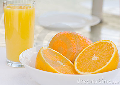 Refreshing Oranges and Juice