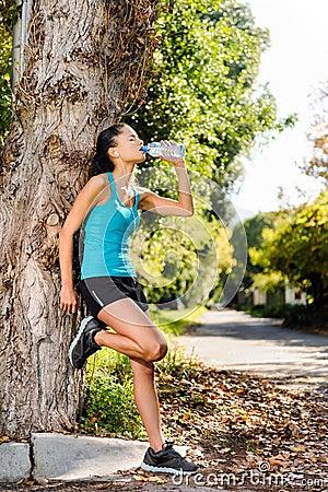 Refreshing water athlete