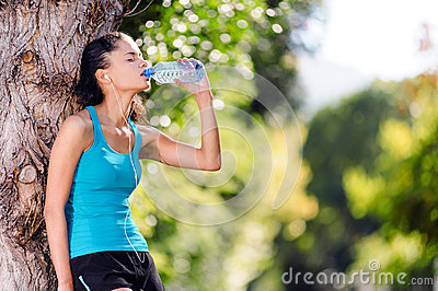 Refreshing water athlete