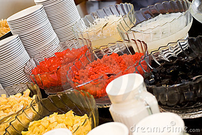 Refreshment dessert buffet