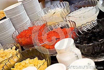 Refreshment dessert buffet