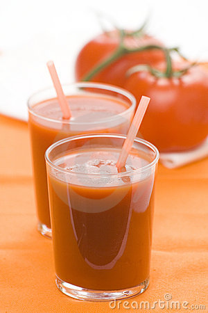 Refreshment and healthy diet drink tomato juice