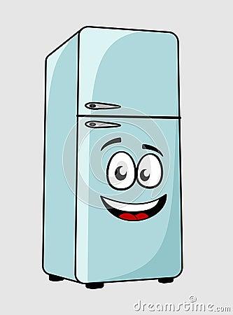 Fotos De Archivo Cartoon Character Refrigerator With A