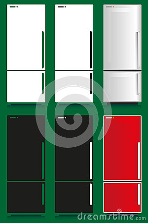 Refrigerator stock vector image 44192274 for Household refrigerator design