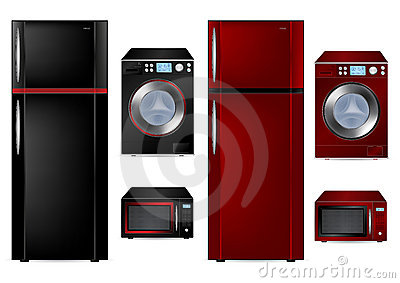 Refrigerator, Washing Machine and Microwave