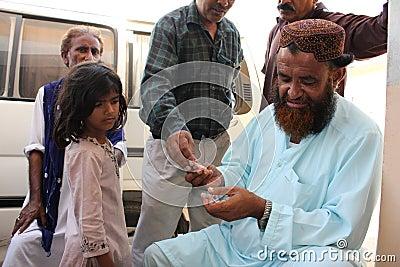 Refugee Child in Pakistan Editorial Photo