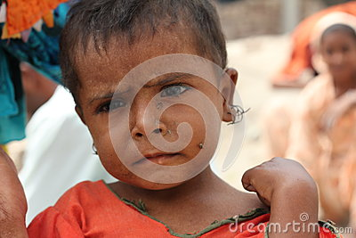 Refugee Child in Pakistan Editorial Stock Photo
