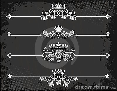 Regal rule line with crowns
