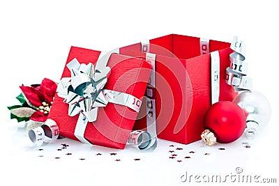 regalo de navidad abierto imagen de archivo imagen 17164831. Black Bedroom Furniture Sets. Home Design Ideas