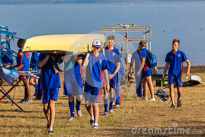 Regatta Canoes Teams Preparation Editorial Photography