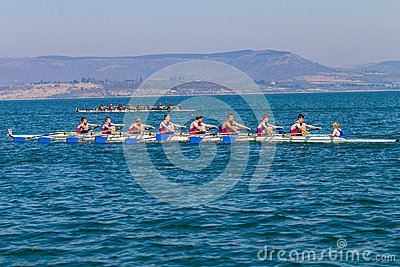 Regatta Eights Oct Rowing Competition  Editorial Photography