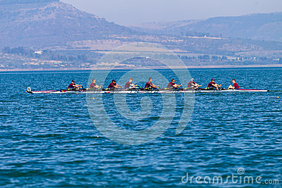Regatta Eights Oct Rowing Racing Editorial Stock Image