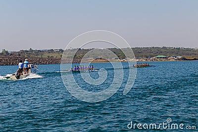 Regatta Eights Oct Rowing Referee Boat Editorial Stock Photo