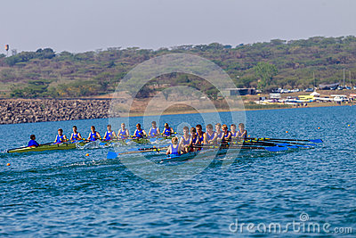 Regatta Eights Oct Rowing Schools Editorial Stock Photo