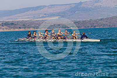 Regatta Eights Octs Boys Team Racing Editorial Photography