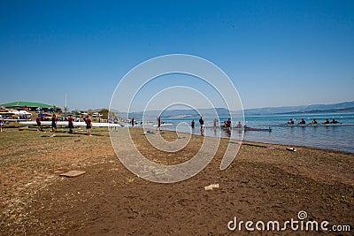 Regatta Teams Waters Shoreline Editorial Photo