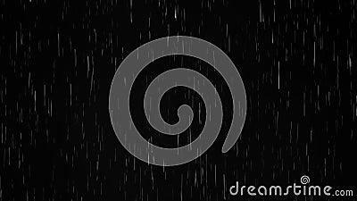 Regen auf schwarzem Hintergrund, realistisches cgi stock video footage