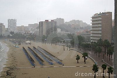 Regen bij Nova Palma