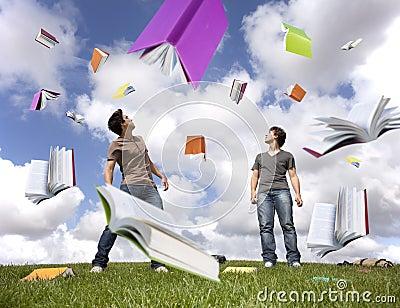 Regen van boeken