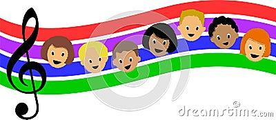 Regenbogen-Musik Children/ai