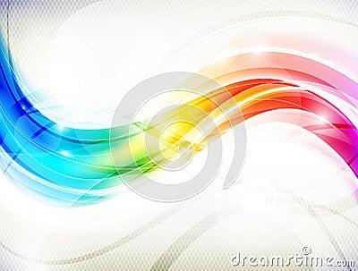 Regenbogen-Welle