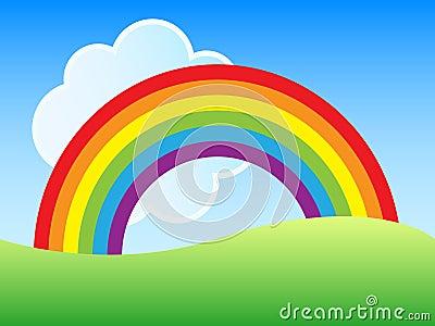 Regenbogenszene