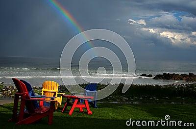Regenboog op Wit Punt